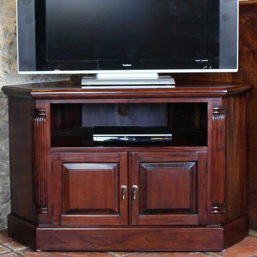 Abdabs Furniture La Roque Mahogany Corner Tv Cabinet