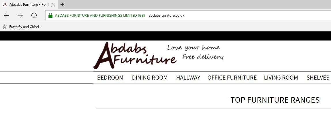 Abdabs Furntiure Secure Checkout
