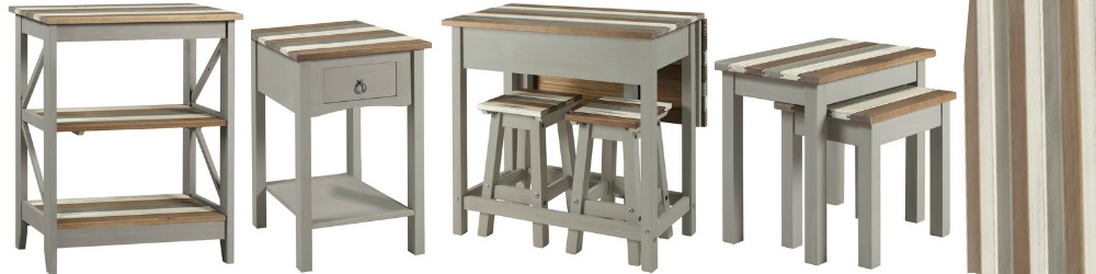 Corona Vintage Furniture Grey Washed with planked tops