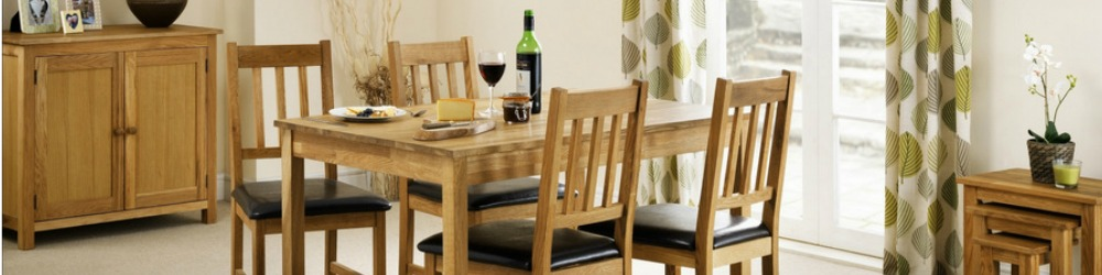 Coxmoor oak dining room furniture