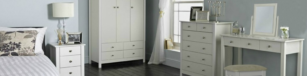 Florence Bedroom Furniture available in black or white