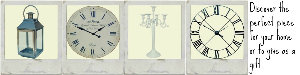 Home Furnishings - Clocks- photo frames- lanterns and more