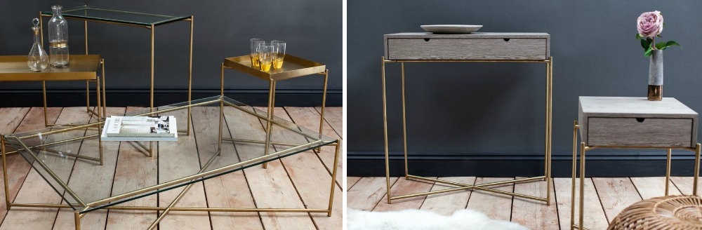 Iris Brass Designer Furniture Range