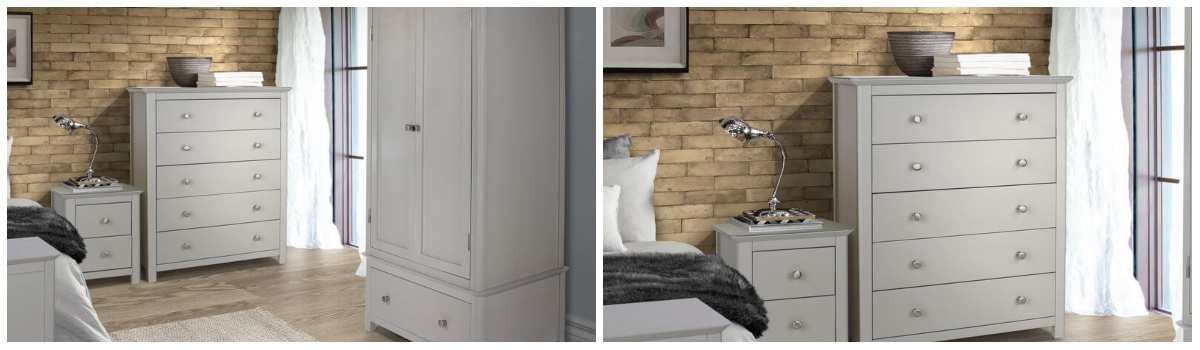 Lilith grey Painted Bedroom Furniture Range