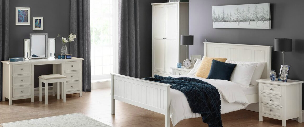 Maine Surf White Bedroom Furniture
