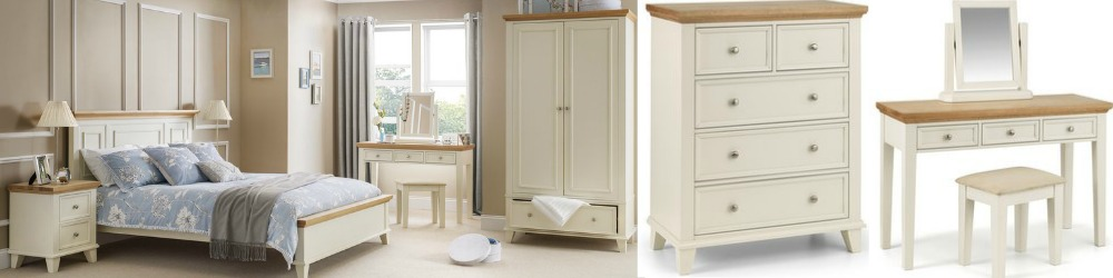 Ordinaire Portland Stone White Bedroom Furniture With Contrasting Oak Tops