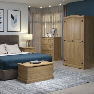 Corona Waxed Pine Bedroom Furniture