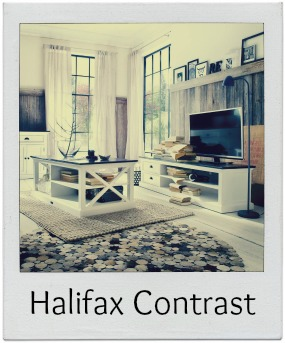 Halifax White & Black Furniture