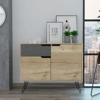 Manhattan Bleached Pine and Dark Stone Contemporary Furniture Range