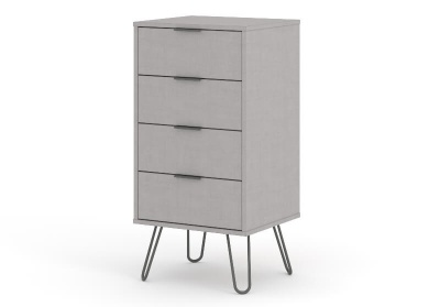 4 Augusta Grey Drawer Narrow Chest of Drawers