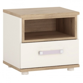 4 Kids 1 Drawer Bedside Cabinet