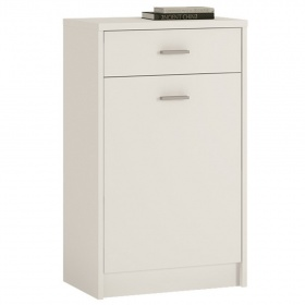 4 You 1 Drawer 1 Door Cupboard - Pearl White