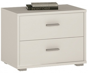 4 You Bedside Cabinet - Pearl White