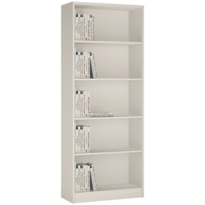 4 You Tall Wide Bookcase - Pearl White