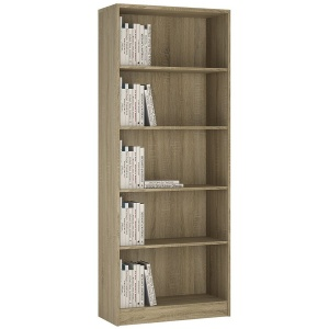 4 You Tall Wide Bookcase - Sonama Oak