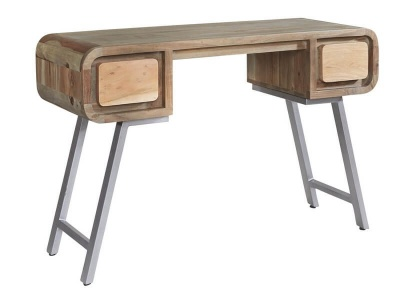 Aspen Desk/Console - Solid Hardwood & Reclaimed Metal
