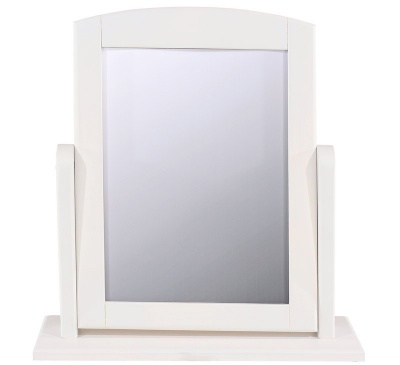 Abella White Single Dressing Table Mirror