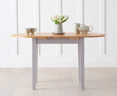 Alaska Oak & Grey Extending Dining Table
