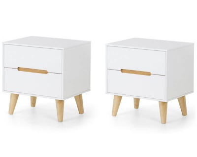 Alicia 2 Drawer Bedside Table - Pair