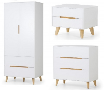 Alicia Retro Scandinavian Bedroom Trio Package