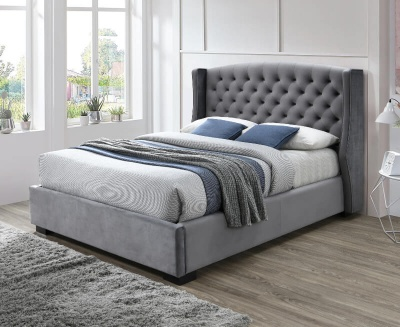 Ambassador Dark Grey Fabric Bed Frame - Double