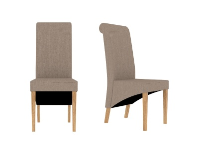 Amelia Dining Chair Beige - Set of Two