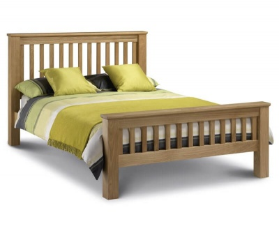 Amsterdam Oak High Foot End Double Bed