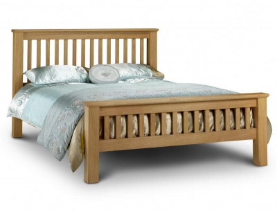 Amsterdam Oak High Foot End King-Size Bed