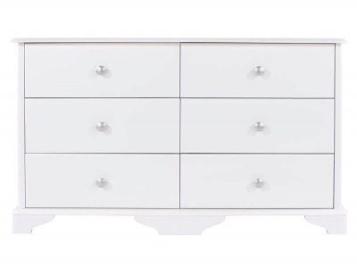 Arabella White Painted 3 + 3 Drawer Wide Chest