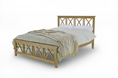 Ashfield Low Foot End Solid Oak Double Bed Frame