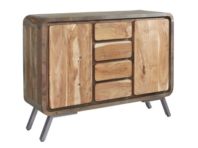 Aspen Large Sideboard - Solid Hardwood & Reclaimed Metal