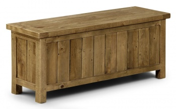 Aspen Rough Sawn Pine Dining Storage Bench