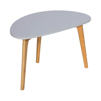 Astro Coffee Table Grey with Wooden Legs