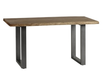 Baltic Live Edge Dining Table 150 cm - Wood & Metal