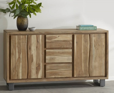 Baltic Live Edge Extra Large Sideboard - Wood & Metal