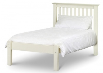 Barcelona Stone White Single Bed and Mattress