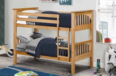 Barcelona Pine Bunk Bed with Mattresses