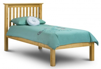 Barcelona Pine Single Bed Frame & Mattress