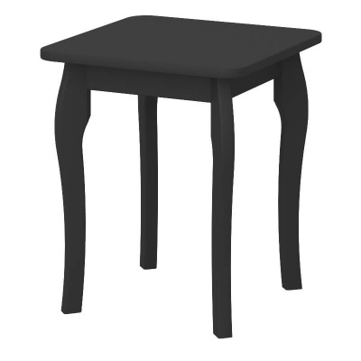 Baroque Black Dressing Table Stool