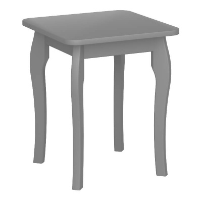Baroque Grey Dressing Table Stool