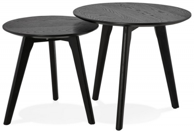 Black Scandi Style Side Tables