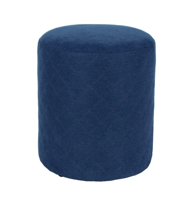 Blue Fabric Upholstered Round Tub Stool