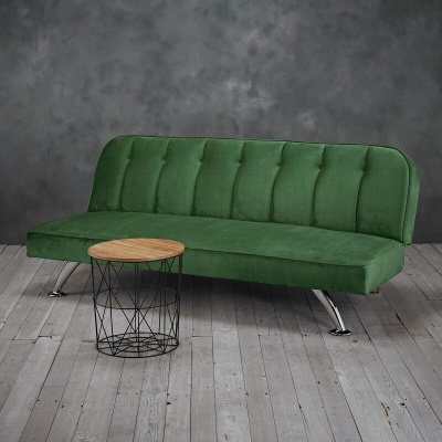 Brighton Green Velvet Sofa Bed