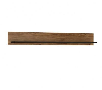 Brolo 167 cm Wide Wall Shelf - Walnut and Dark Finish