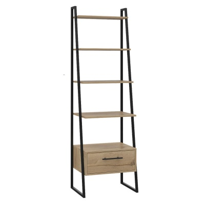 Brooklyn Ladder Shelf - Bleached Pine Effect with Metal Legs