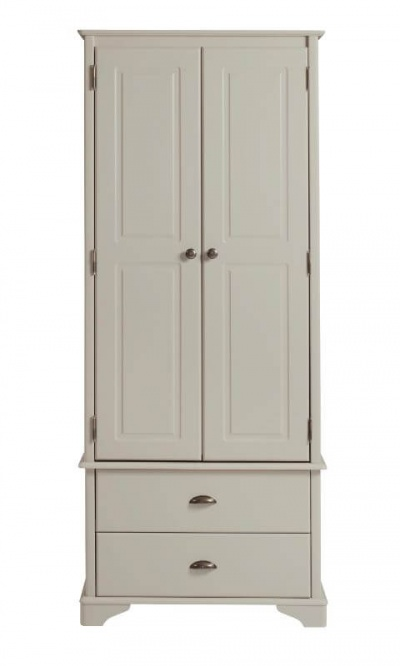 Brora Grey Painted 2 Door 2 Drawer Wardrobe