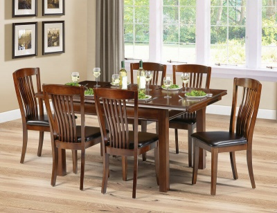 Canterbury Mahogany Dining Table & Six Chairs