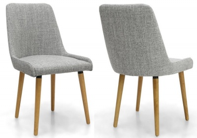 Capri Grey Weave Chairs - Pair