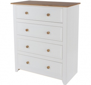 Capri White Chest of Drawers