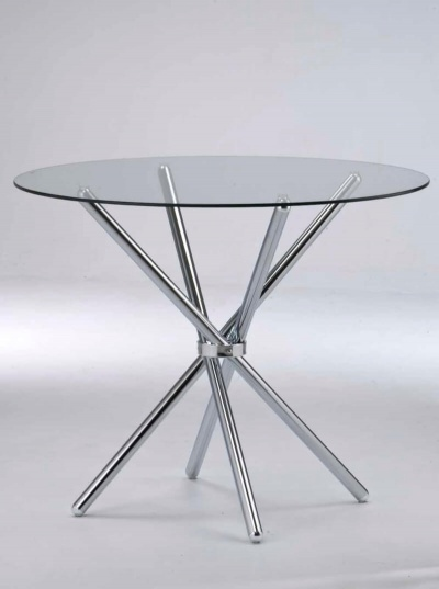 Casa Round Dining Table with Glass Top